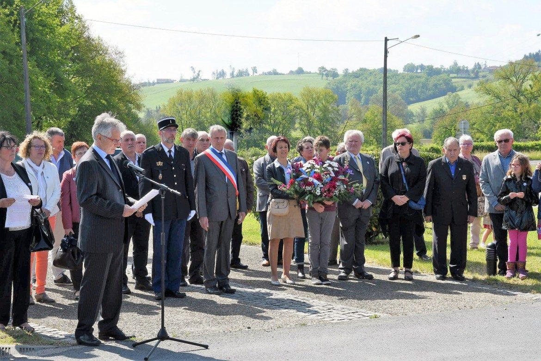 Recueillement au Monument de la Déportation du 12 Mai 1944 à la Zone de Laborie