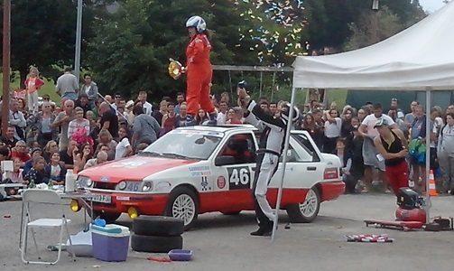 Spectacle Cie Théâtre Group' ''Les rois du Rallye, Préalables du Festival de Théâtre de Rue d'Aurillac (20 Août)